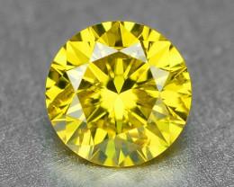 0.23 Carat Very Rare Vivid Parrot Green Yellow Loose Diamond