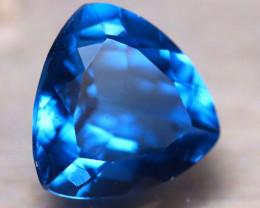 Fluorite 10.16Ct Natural IF Vivid Bule Color Change Fluorite EN04/A49