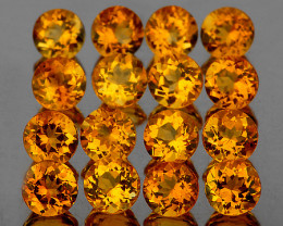 3.00 mm Round 25 pcs Intense Golden Yellow [VVS]
