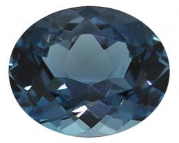 3.24 Carat Oval Blue Topaz: London Grayish Blue