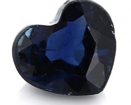 0.20 Carat Heart Shape Blue Sapphire: Darkish Blue