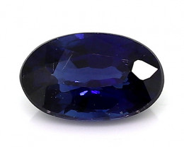 0.32 Carat Oval Blue Sapphire: Deep Royal Blue