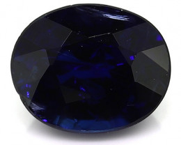 0.45 Carat Oval Blue Sapphire: Deep Royal Blue