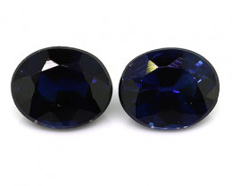 0.62 Carat Oval Blue Sapphire: Deep Royal Blue