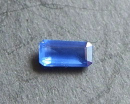 0.68ct unheated clean blue sapphire from Myanmar
