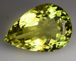 18.96 Ct Natural Lemon Quartz Top Cutting Top Quality Gemstone. LQ 24