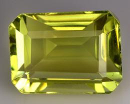 12.06 Ct Natural Lemon Quartz Top Cutting Top Quality Gemstone. LQ 25