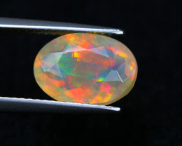 2.45Ct Natural Ethiopian Welo Faceted Opal Lot P244