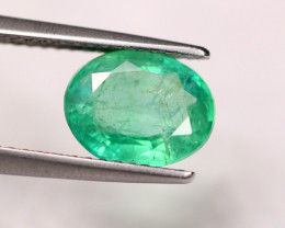 1.96ct Natural Zambia Green Emerald Oval Cut Lot GW5319