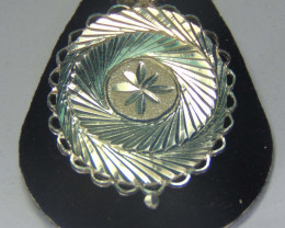 pendent ~ 999 silver faceted designs 23.70 cts