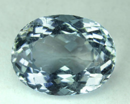 ~UNHEATED~ 9.16 Cts Natural Blue Topaz Oval Brazil ~RAREST~