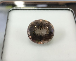 6.78 Carat Unheated Very Rare Earth Mined Purplish Brown Tourmaline Gemston