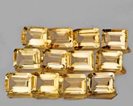 6x4 mm Octagon 12 pcs 6.92cts Yellow Citrine [VVS]