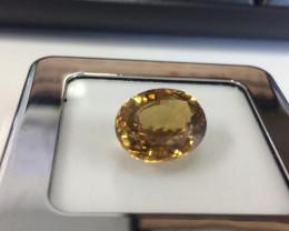 17.78 Carat Very Rare Golden Yellow Color Natural Zircon Gemstone