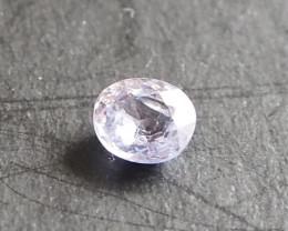 0.7ct Natural white sapphire