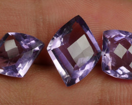9.50 CRT BEAUTY PURPLE AMETHYST CHACKERBOARD-