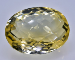 21.50 Crt Citrine Faceted Gemstone (Rk-61)