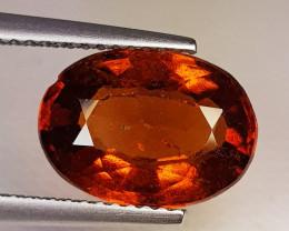 4.59 ct AAA Grade Gem Oval Cut Top Luster Hessonite Garnet