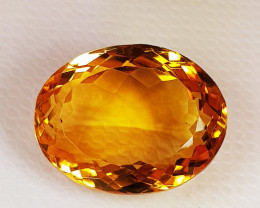 11.26 ct AAA Quality Oval Cut Natural Golden Orange Natural Citrine