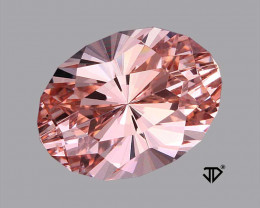 3.58 Carat IF Morganite John Dyer Master Cut Regal Radiant Flawless !