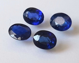 Royal Blue Sapphire lot - 1.76 cts - 5x4x2.5mm