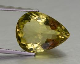 12 CT Beautiful Pear Cut Citrine Gemstone@ Brazil