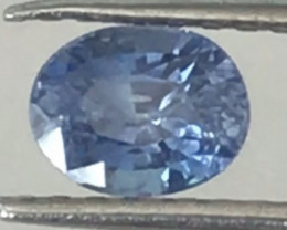 Certified Unheated 1.05ct Cornflour Blue Sapphire - Sri Lanka Ref 2285