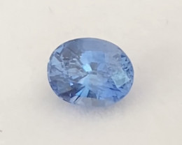 Certified Unheated 1.05ct Cornflour Blue Sapphire - Sri Lanka Ref 2285