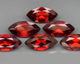 11.14 ct. Natural Hot Red Rhodolite Garnet Africa 6Pcs