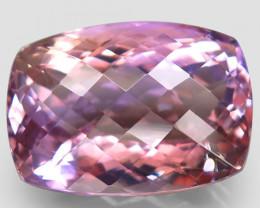 31.18 ct. Antique Cut 100% Natural Top Bi Colors Purple Yellow Ametrine