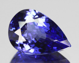 1.98 Cts Natural Good Blue Tanzanite Pear Cut Tanzania Gem