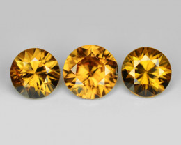 3.74 Cts 3pcs Amazing Rare Champagne Color Natural Zircon Gemstone