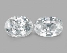 4.05 Cts 2pcs Amazing Rare White Zircon Natural Gemstone