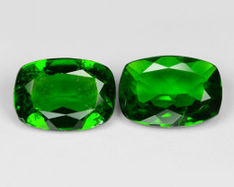 1.50  Cts 2pcs Natural Green Color Chrome Diopside Loose Gemstone