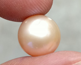 Rose Gold Pearl Fresh Water Round Natural Bead VA3884