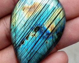 81.50 CT LABRADORITE GEMSTONE CABOCHON NATURAL+UNTREATED VA3894