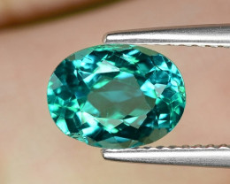 2.42 Cts Un Heated Green Color Natural Apatite Loose Gemstone