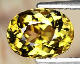 3.09 Cts Unheated Yellow Color Natural Tanzanite Gemstone