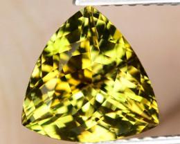 1.95 Cts Unheated Yellow Color Natural Tanzanite Gemstone