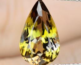4.03 Cts Unheated Yellow Color Natural Tanzanite Gemstone