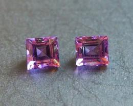 5ct Natural Amethyst pair