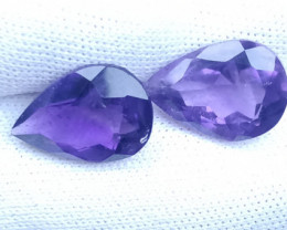 7.35ct Amethyst pair deep colour