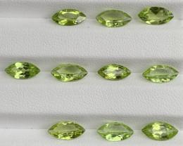 9.64 Carats  Peridot Gemstones Parcels