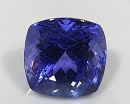 2ct Deep Blue Clean Tanzanite Cushion 7.2mm(SKU 118)