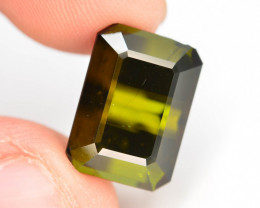 Top Color 9.30 ct Natural Green Color Tourmaline T