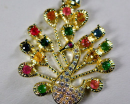 Natural Ammolite  Peacock Pendant