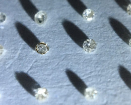 0.05 ctw 12 x champagne i1-pique diamonds