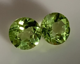 ⭐STUNNING PERIDOT PAIR - JEWELLERY GRADE GEMS 5.00MM EACH