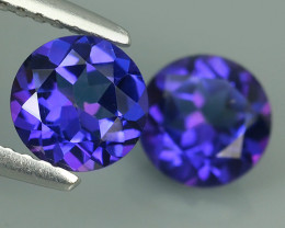 2.05 CTS AWESOME NICE QULITY TANZANITE COLOR TOPAZ 2 PCS