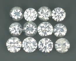 1.35 Cts Natural unheated Beautiful 3.00 mm white Sapphire round Shape Parc